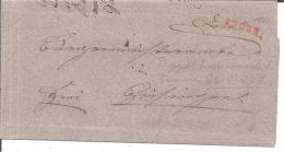 Bad069/  BADEN - Engen, Einzeiler In Rot, Doppelverwendung Geisingen 1843 - Duitsland