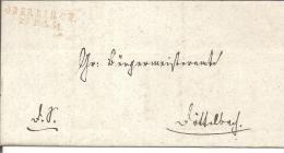 Bad067/  BADEN - Oberkirch, Zweizeiler In Rot 1831 - Duitsland