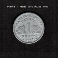 FRANCE    1  FRANC  1942  (KM # 902.1) - France