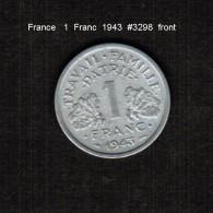 FRANCE    1  FRANC  1943  (KM # 902.1) - France