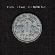 FRANCE    1  FRANC  1944  (KM # 902.1) - France