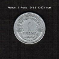 FRANCE    1  FRANC  1948 B  (KM # 885.1) - France