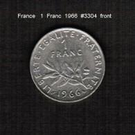 FRANCE    1  FRANC  1966  (KM # 925.1) - France