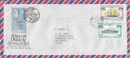 St. Vincent Grenadines Cover To USA Scott #227 15c Jupiter, #231 50c Alabama - St.Vincent & Grenadines