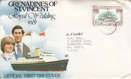 St. Vincent Grenadines Cover To USA Scott #234 $1 Baffin - St.Vincent & Grenadines