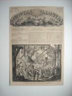 GRAVURE 1864. PARIS. THEATRE DE LA PORTE SAINT-MARTIN. LES DRAMES DU CABARET. - Prints & Engravings