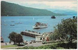 Bowness Bay, Windermere: CAR, TOURIST-BOAT, PHONEBOX, PIER - England - Voitures De Tourisme