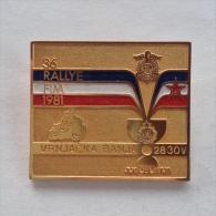 Badge / Pin (Motorcycling) - Yugoslavia Vrnjacka Banja Rallye FIM (annual Motorbike Gathering) 1981 - Motorbikes