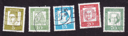 Germany, Scott # 824, 827-829, 835a, Used, Famous Germans, Issued 1961-64 - BRD