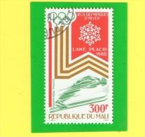 REP. DU MALI ,,, LAKE  PLACID 1980 ,,, J.O. D'HIVER ,,, ** 300 F. **,, POSTE 1980 ,, TBE - Mali (1959-...)