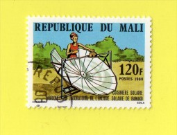 REP. DU MALI ,,, CUISINE SOLAIRE ,,, BAMAKO ,,, ** 120 F. **,, POSTE 1980 ,, TBE - Mali (1959-...)