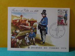 Carte Maxi / FDC, Journée Du Timbre - 69 Lyon - 14.3.1970 - 1er Jour - 1970-1979
