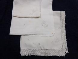 Lot De 3 Mouchoirs -MARIE-monogramme O Et CA.-- - Taschentücher