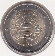 2 Euro Commémorative UNC Portugal 2012 - 10 Ans De L'Euro - Portugal