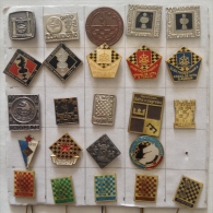 Badge / Pin (Chess) - Yugoslavia (24 Different Pieces) - Badges