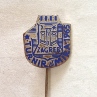 Badge / Pin (Chess) - Yugoslavia Zagreb Peace Tournament 1965 - Badges