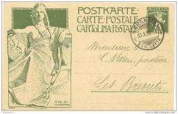 CH - 12743 - Entier Postal Suisse Fils De Tell 5cts - Superbe Cachet à Date De Neuchâtel 1909 - Entiers Postaux