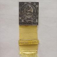 Badge / Pin ZN000644 - Chess (sah) Yugoslavia Skopje 20th Olympiad 1972 PRESS I RTV - Pin's