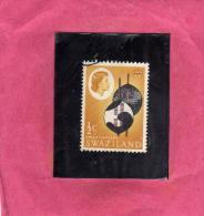 SWAZILAND 1962 DEFINITIVE SWAZI SHIELDS 1/2 CENT. USED - Swaziland (1968-...)