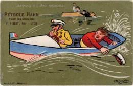 Pétrole HAHN - Pour Les Cheveux - Les Sports - Canot Automobile   (62829) - Advertising