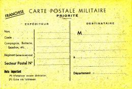 Carte FM Officielle 1939-45 Sinais-Weingarten N° 02 - Cartes De Franchise Militaire