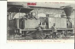 Carte -Photo De La Cie Du Midi-Machine-Tender No 301 _ Animée _Construite En 1855  Par Haswell_Type Unique - France