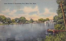 Lake Scanlan Or Swimming Pool Miles City Montana 1943 - Miles City