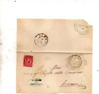 1881   LETTERA CON ANNULLO ALANNO MONTESILVANO TERAMO - 1878-00 Umberto I