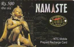 Nepal, Rs. 500, Namaste, Buddha Figur, 31/12/05. - Nepal