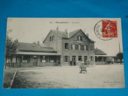 80) Montdidier - N° 23 - La Gare  ( Attelage ) -  Année 1909 - EDIT - Faucheux - Montdidier