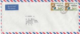 St. Vincent Grenadines Cover To USA Scott #O1 Pr Official O/p 50c Prince Charles, Lady Diana, ´The Mary´ - Royal Wedding - St.Vincent & Grenadines