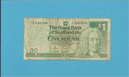 SCOTLAND - UNITED KINGDOM - 1 POUND - 25.03.1987 - P 346 - THE ROYAL BANK OF SCOTLAND PLC - [ 3] Scotland