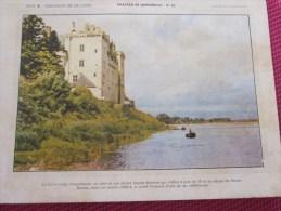 BUVARD Publicitaire :Flan Lyonnais Entremet Château De La Loire Monsoreau N° 20 ( Photos Recto Verso) - Food