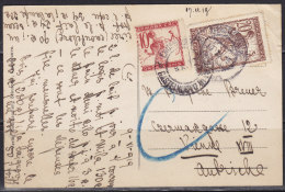 2686. State Of Serbs, Croats And Slovens, 1919, Postcard From Herceg Novi To Vienna - Serbie