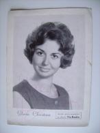 Gloria Christian, Pseudonimo Di Gloria Prestieri (Bologna, 24 Giugno 1934)  CON AUTOGRAFO ORIGINALE  CANTANTE  ITALIA - Foto