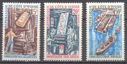 Cote D´Ivoire YT N°298/300 Industries Neuf/charnière * - Côte D'Ivoire (1960-...)