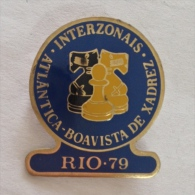 Badge / Pin (Chess) - Brazil Rio De Janeiro Interzonal Tournament 1979 - Badges