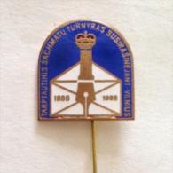 Badge / Pin (Chess) - USSR SSSR CCCP Vilnius International Tournament 1988 - Badges