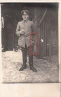 Photocarte Allemande- Militaire Allemand Baïonnette Pose Photo 1917 (guerre14-18)2scans - War 1914-18