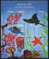 Dominica 2013 - Faune Marine, Poissons, étoiles De Mer - Feuillet Neuf // Mnh - Dominica (1978-...)