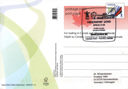 OLYMPISCHE SPIELE-OLYMPIC GAMES, Canada, 2010, Event Postcard/Special Cancellation !! - Winter 2010: Vancouver