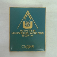 Badge / Pin (Olympic / Olimpique Universiade) - Bulgaria Sofia Winter Games 1983 JUDGE - Olympic Games