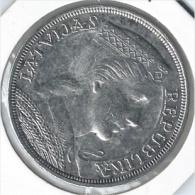 Latvijas Republika,1931 = Latvia = Letonia 5 Lati 1931 Silver - Monedas