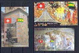 SAO TOME - 085 - N° 245/7 BLOCS CONFEDERATION HELVETIQUE Suisse DURER Tableaux - Peinture (painting) COTE 16.5 - Arte