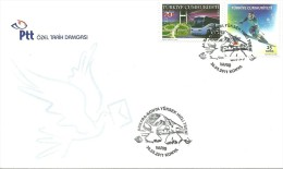 "Turkey; Special Postmark 2011 High-Speed Train ""Ankara-Konya"" (Arrival) - FDC"