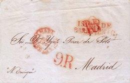 G)1845, MEXICO TO SPAIN VIA HAVANA (ISLA DE BARLOVENTO) WRITTEN BY THE FIRM OF IGNACIO PEREZ DE SOTO, MEXICO 27 JULY 184 - Mexico