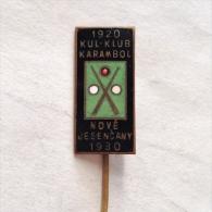 Badge / Pin (Billiards) - Czechoslovakia Nove Jesencany Karambol Klub 1930 - Billiards