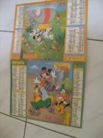 Calendrier Almanach Du Facteur 2001 LAVIGNE Disney Mickey Donald Pluto Dumbo - Grand Format : 2001-...