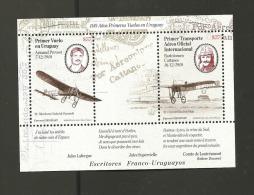 O)2010 URUGUAY, AIRPLANE, FIRST FLIGHT, ARMAND PREVOST, BARTOLOMEO CATTANEO, S/S, MNH - Uruguay