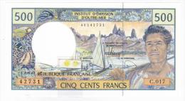 Polynésie Française / Tahiti - 500 FCFP - C.017 / 2013 / Signatures Barroux-Noyer-Besse - Neuf  / Jamais Circulé - Papeete (Polynésie Française 1914-1985)